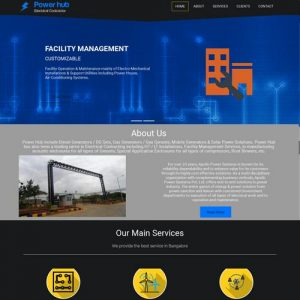 Electric equipment website designing in Bangalore