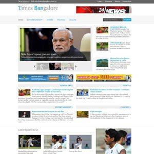 Web designing for news portal mangement