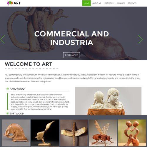 Website Designing for Art studio in Bangalore