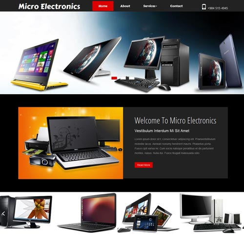 Electronics Website Designing in Bangalore