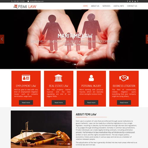 Law websites designing in Bangalore