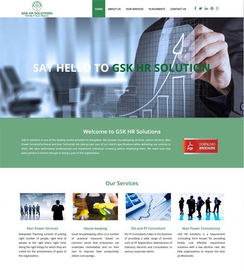 Website Design - GSK HR Solutions