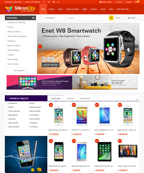 ECommerce Website Development Bangalore | ECommerce Website for Monthly Rental
