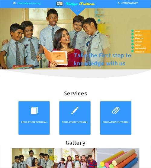 Website design - vidyatuition