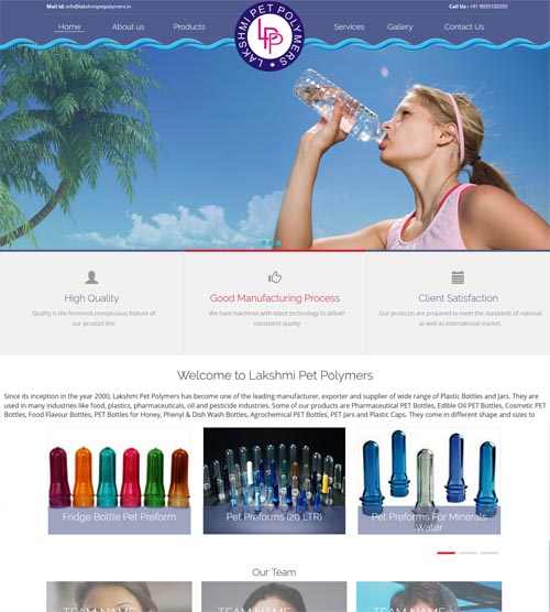 Website design- lakshmipetpolymers