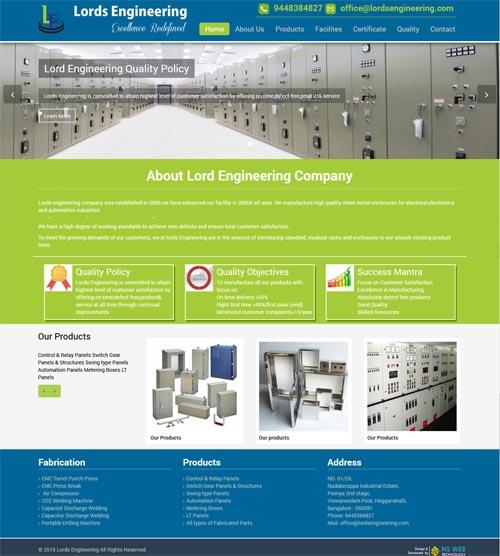 Website design - lordsengineering