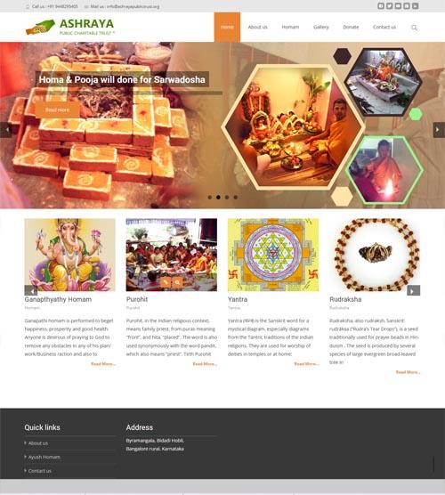 Website design - ashrayapublictrust