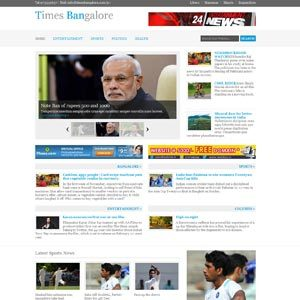 Web designing for news portal mangement