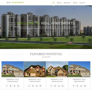 Real estate website designing Bangalore