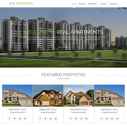 Real estate website designing Bangalore