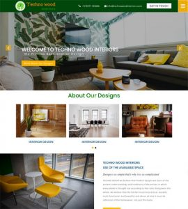 Web designing for Architecture - Technowoodinteriors